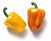 Yellow and orange pepper