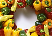 Peppers, arranged in circle around centre of picture