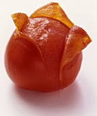 A Half Peeled Tomato