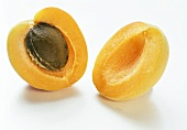 A Skinned and Sliced Apricot
