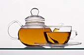 Glass Tea Pot; Tea Cup