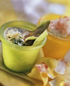Artichokes with dips (sorrel dip, radish dip)