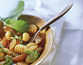 Gnocchi with tomatoes, shallots and sorrel