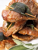 Saltimbocca alla romana (escalopes with raw ham & sage)