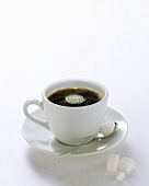 Black Coffee in White Cup