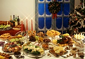 Traditional Portuguese Christmas buffet