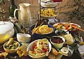 Pasta dishes: minestrone, pasta bake, tortelloni, spaghetti
