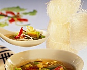 Hot and Sour Soup with Cellophane Noodles