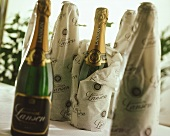 A few bottles of Lanson champagne, some in paper