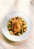 Poussin with truffles, Vierland vegetables & roast potatoes