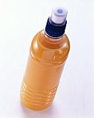Orange juice in a plastic bottle