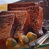 Nut cake with hazelnut icing