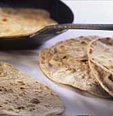 Chapatis (pan-cooked flat breads)