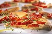 Pizza pane con pomodoro(Pizza bread with tomatoes & rosemary)