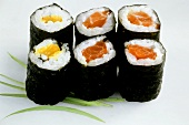 Maki-sushi with fish and pepper