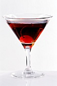 Martini Sweet with maraschino cherry