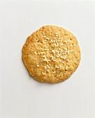 A sesame biscuit