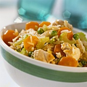 Fried vegetable rice with chicken breast fillet