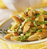 Cabbage and potato noodles with onions and parsley