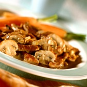 Veal stroganoff with mushrooms
