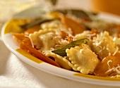 Ravioli salvia e carote (Sage & carrot ravioli, Italy)