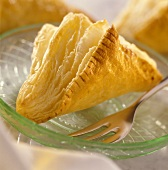 Quark pasties on glass plate with fork