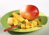 Mango on plate