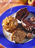 Belgian chocolate muffins; French champagne muffins