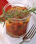 Peperoni marinati al rosmarino (Marinated pepper halves)