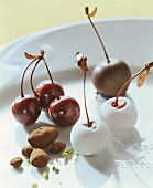 Cherry and almond chocolates