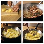 Bratkartoffeln mit Speck zubereiten
