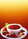 Cold soup with strawberries