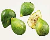 Fresh figs, one halved
