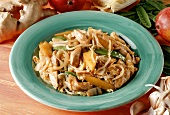 Sweet & sour chicken ragout with mango and mangetouts