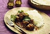Indonesian beef with chili and rice
