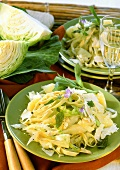 Pizzoccheri: cabbage, potato & noodle stew with sage & parmesan