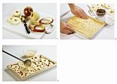 Making tray-baked apple cake