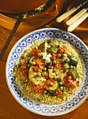 Cuscus alla pantisca (couscous with fish & vegetables, Italy)