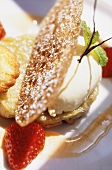 Rhubarb tartlet with champagne mousse