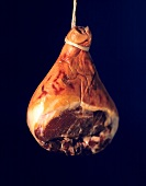 Whole parma ham, hanging on a string