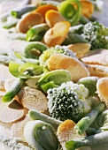 Frozen vegetables (filling the picture)