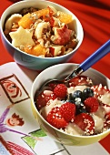 Oat muesli with fruit: hypoallergenic muesli with berries