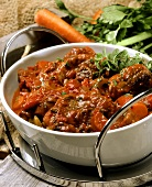 Hearty stew with meat and winter vegetables
