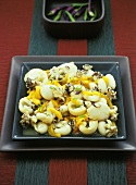 Cuttlefish salad with yellow peppers