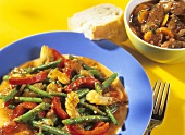 Vegetable ragout with green beans and Tuscan beef ragout