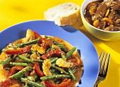 Gemüseragout mit grünen Bohnen und toskanisches Rinderragout