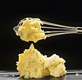 Mashed potato with whisk
