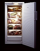 Vegetables, fruit, lobster etc in an AEG freezer