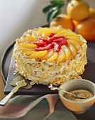 Whole Campari and citrus gateau