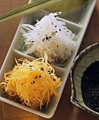 Japanese salad (Namasu radish, goes well with Sushi)